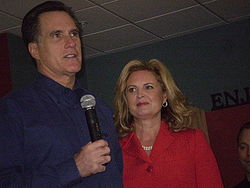 Ann Romney with Mitt Romney