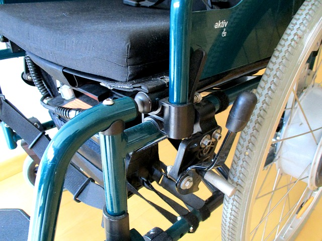 Wheelchair closeup